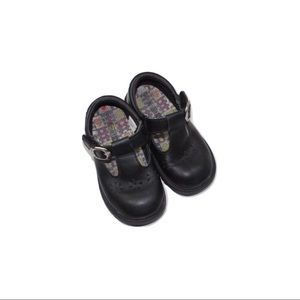 Toddler Girls Black Leather Mary Jane Shoes